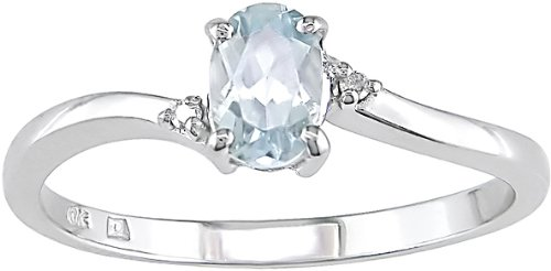 Tanzanite and Diamond Accent Ring in 10k White Gold