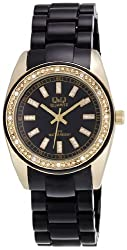 Q&Q Standard Analog Black Dial Womens Watch - GQ13J002Y