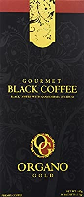 Gourmet Black Coffee With 100% Organic Ganoderma Lucidum (1 Box of 30 Sachets) by Organo Gold coffee
