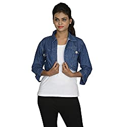 Fashion205 Women's Jacket (DenimJacket_Blue_Free Size)