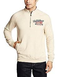 Basics Men's Cotton Sweatshirt (8907054765027_15BJK32942_42_Oatmeal)