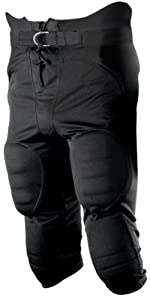 Alleson 13 Oz. Polyester Integrated Football Pants BK - BLACK YS by Alleson Athletic