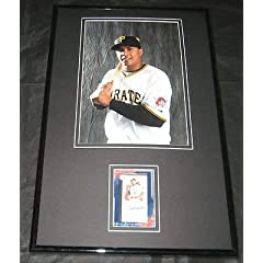Buy Jose Tabata Signed Framed Photo Display 11x17 TOPPS Pirates by The Steel City Auctions Gallery