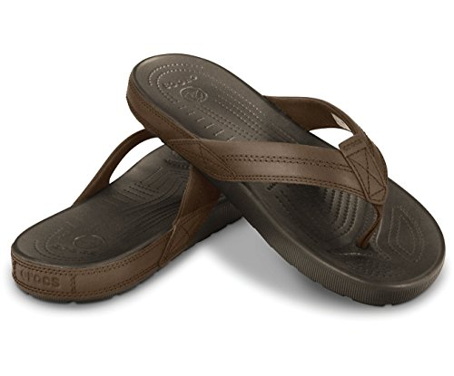 1bc77265889 40% OFF on Crocs Men s Yon Flip Leather Flip Flops Thong Sandals on Amazon