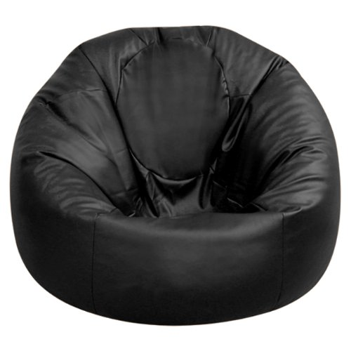 xxxl bean bags huge mega size black rio bean bag faux leather beanbag gaming chair by hi. Black Bedroom Furniture Sets. Home Design Ideas