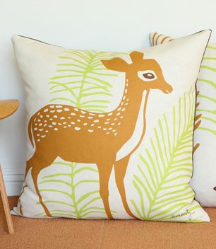 Nursery Floor Pillow | Deer (26x26)