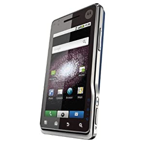 Motorola Milestone XT720 Unlocked Phone with Android OS, 8 MP Camera and HD Video - International Version (Blue/Silver)