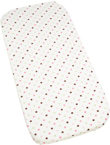 Carters Super Soft Printed Changing Pad Cover, Pink/Green Dot (Discontinued by Manufacturer)