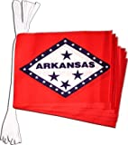 USA Arkansas Bunting Flags - 19 ft / 5.9 m