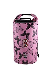 OverBoard Urban Safe Dry Tube Bag, 20-Litre, Pink Butterfly