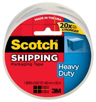 3M 3850 1.88-Inch X 54.6-Yard Clear High-Performance Packing Tape - Quantity 12