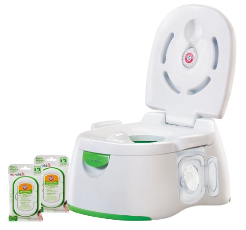 Munchkin Arm & Hammer 3-in-1 Potty Seat with 72 Count Potty Wipes