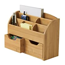 Bamboo Lipper International Space Saving Desk Organizer