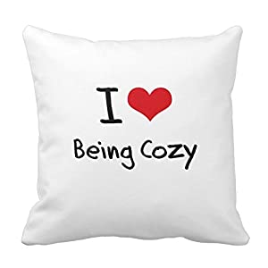 Throw Pillow Standard Size : Amazon.com - I Love Being Cozy Throw Pillow Standard Size 20 X 20 Design Pillow Case Cover For ...