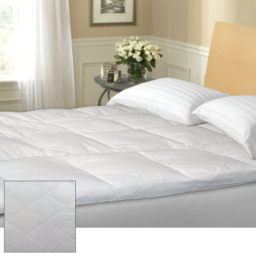 Review Blue Ridge Home 122294 3-Inch Quilted Featherbed, 210 Thread Count, Cotton Cover, California ...