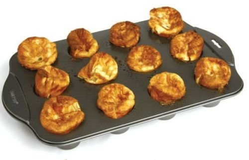 Norpro 3971 Nonstick Linking Popover Muffin Pastry Biscuit Roll Pan 12 Mini Cup