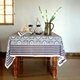 Ocean Breezes ~ Blue Brown Moroccan Beach Table Cloths 70x120