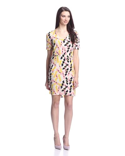 MARNI Women's V-Neck Diamond Print Dress