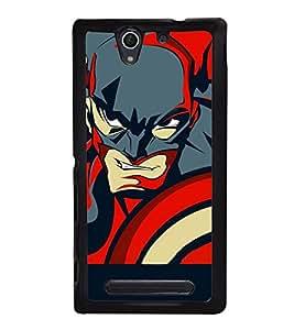 printtech Superhero Avengers Shield Back Case Cover for Sony Xperia C4 Dual E5333 E5343 E5363::Sony Xperia C4 E5303 E5306 E5353