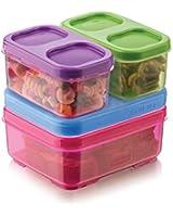 Rubbermaid  LunchBlox Kid's Tall Lunch Box Kit, Purple/Pink/Green