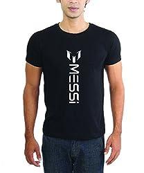 LaCrafters Mens Tshirt - Football tshirts - FC Barca tshirts, FC Barcelona tees, Barca tshirts, Messi tshirts_Black_M