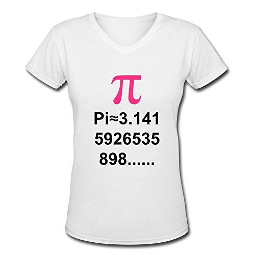 Ywt Pi Math Woman T-Shirt V Neck Cool White