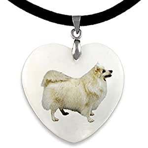 Amazon.com: Timest Japanese Spitz Mother Of Pearl Heart Pendant With