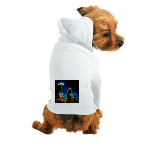 Cafepress Gas Pillars In Eagle Nebula - Dog Hoodie - M White [Misc.]