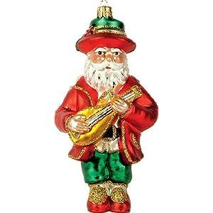 Click to buy Italian Christmas decorations : Italian Santa Glass Christmas Ornament from Amazon!
