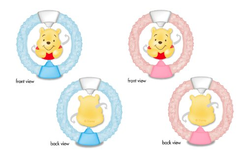 Winnie The Pooh Gel Filled Baby Teether - Blue or Pink - 1