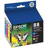 Epson 88 Series DURABrite Ultra Color Ink Cartridges - Multipack (T088120-BCS) 1 Ea. Magenta, Cyan, Yellow & Black
