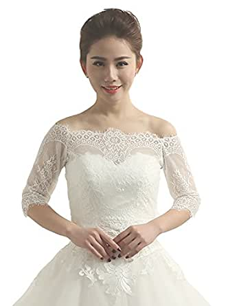 Angel Formal Dresses Women's Off the Shoulder Lace Wedding