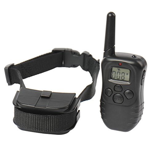 300 Yard Rechargeable LCD 100LV Level Shock Vibra Remote Control Pet Dog Training Collar by Molie