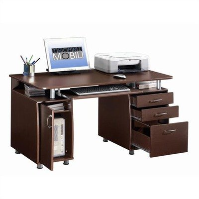 Techni Mobili Super Storage Computer Desk in