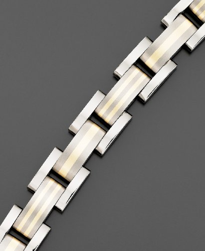 Men's Two-Tone 14k Gold Titanium Bracelet
