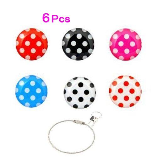 toogoor-paquete-6-en-1-pegatina-de-boton-de-inicio-patron-de-lunares-coloridos-para-apple-iphone-ipo