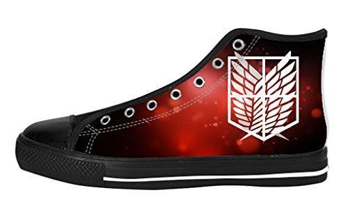 Pop Sneaker Men's High Top Soft Inner Shoes Custom Attack on Titan Logo Design