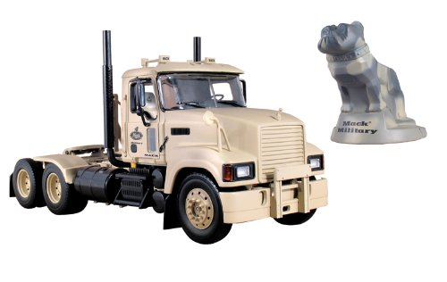 Military Mack Pinnacle Axle Forward Tractor With Camouflage Bulldog Stress Toy 1/34 First Gear