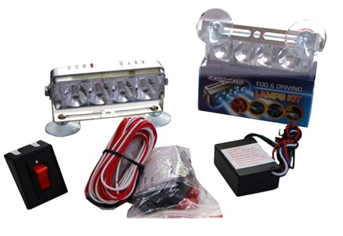 L121 Red And Blue Led Strobe Lights Kit Includes Flasher Dash Strobes