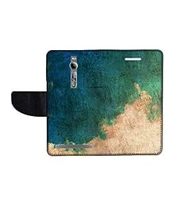 KolorEdge Printed Flip Cover For Asus Zenfone 2 Multicolor - (55KeMLogo11656Zen2)