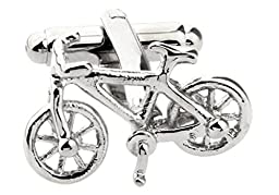 Bike Bicycle Cycling Cyclists Cufflinks with a Presentation Gift Box