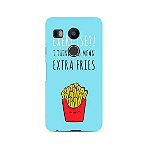 Ebby Extra fries Premium Printed Case For LG Nexus 5X