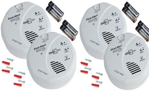Onelink Wireless Talking Battery Operated Smoke & Carbon Monoxide Alarm Sco501B2 - 4Pk