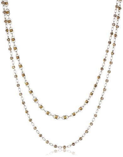 """Lucky Brand """"Indigo Trail"""" Double Layer Two-Tone Strand Necklace, 30.5"""""""
