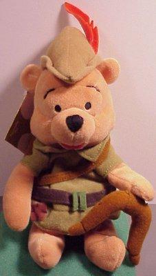Winnie the Pooh Bean Bag Plush Robin Hood Pooh - 1