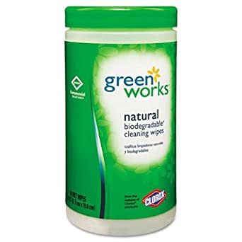 Green Works 30380 Commercial Solutions Disinfecting Wipe, Original (62 Count)