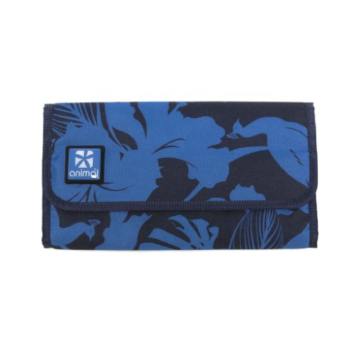 Animal Womens Girls Travel Wallet Purse - Okina Blue Flower