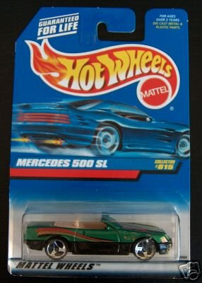 Hot Wheels 1998 Green Mercedes 500 SL #815 1:64 Scale