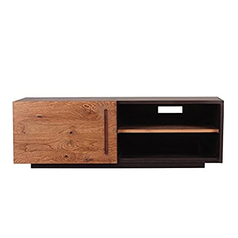 Moe's Home Collection Mountain Teak TV Table with 1-Door - Natural