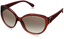 Marc by Marc Jacobs Women's MMJ384S Oval Sunglasses, Transparent Burgundy, 57 mm